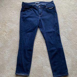 Levi's Dark Blue Indigo 712 Slim Jeans